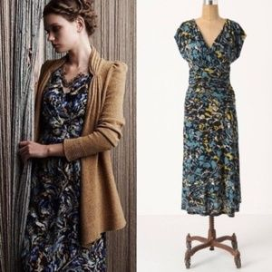 ANTHROPOLOGIE Botanica Dusk Maxi Dress {FF27}
